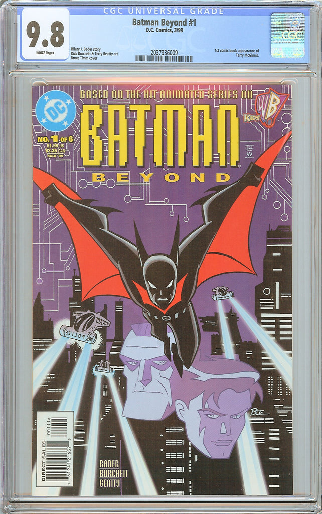 Batman Beyond #1 CGC 9.8 White Pages 2037336009 1st Terry McGinnis