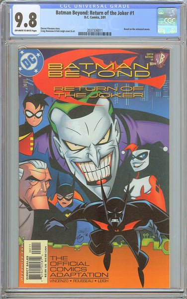 Batman Beyond: Return of the Joker #1 CGC 9.8 OW to White Pages 2037336011