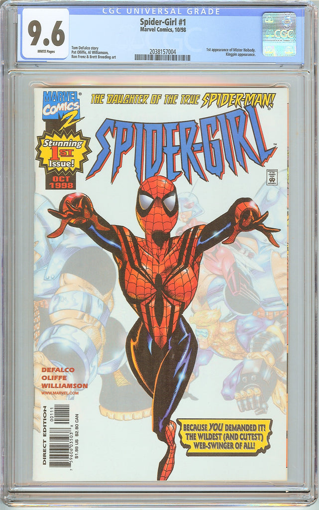 Spider-Girl #1 CGC 9.6 White Pages (1998) 2038157004