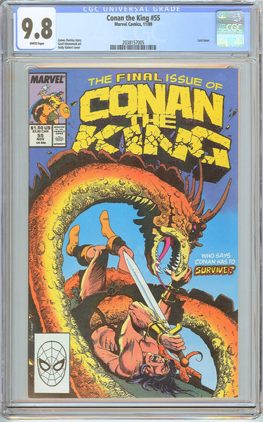 Conan the King #55 CGC 9.8 White Pages (1989) 2038157005 Last Issue