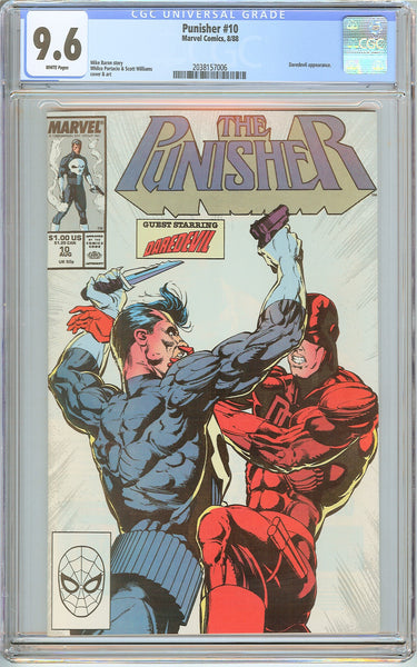 Punisher #10 CGC 9.6 White Pages (1988) 2038157006