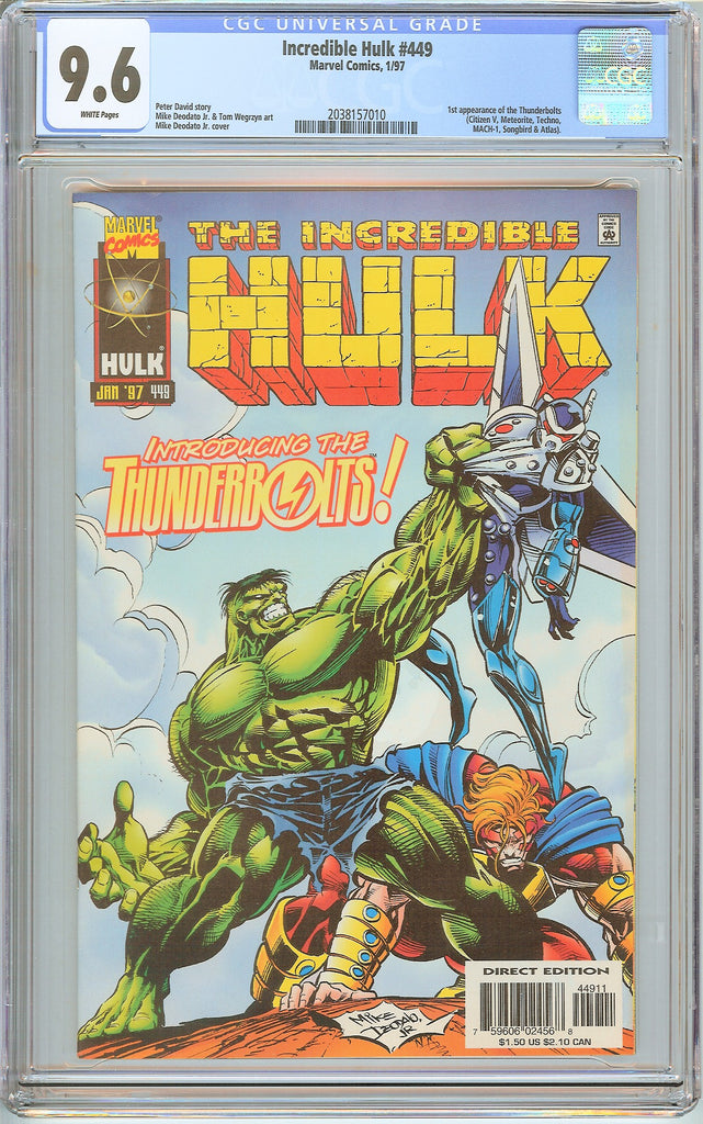 Incredible Hulk #449 CGC 9.6 White Pages (1997) 2038157010