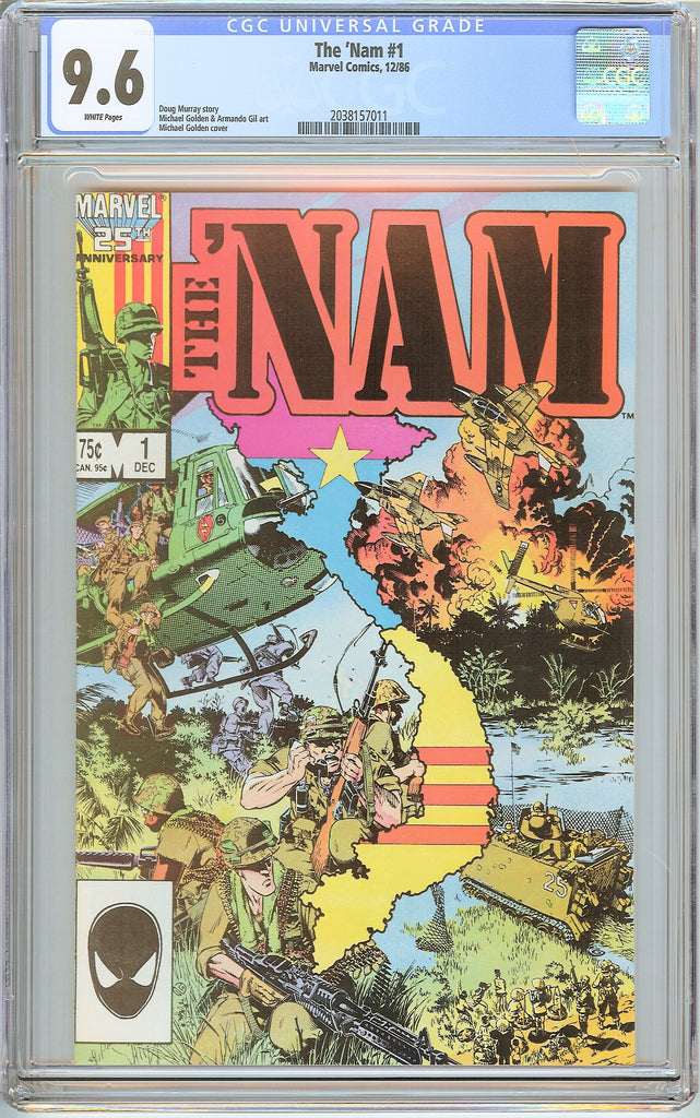 Nam #1 CGC 9.6 White Pages (1986) 2038157011