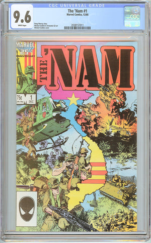 'Nam #1 CGC 9.6 White Pages (1986) 2038157011