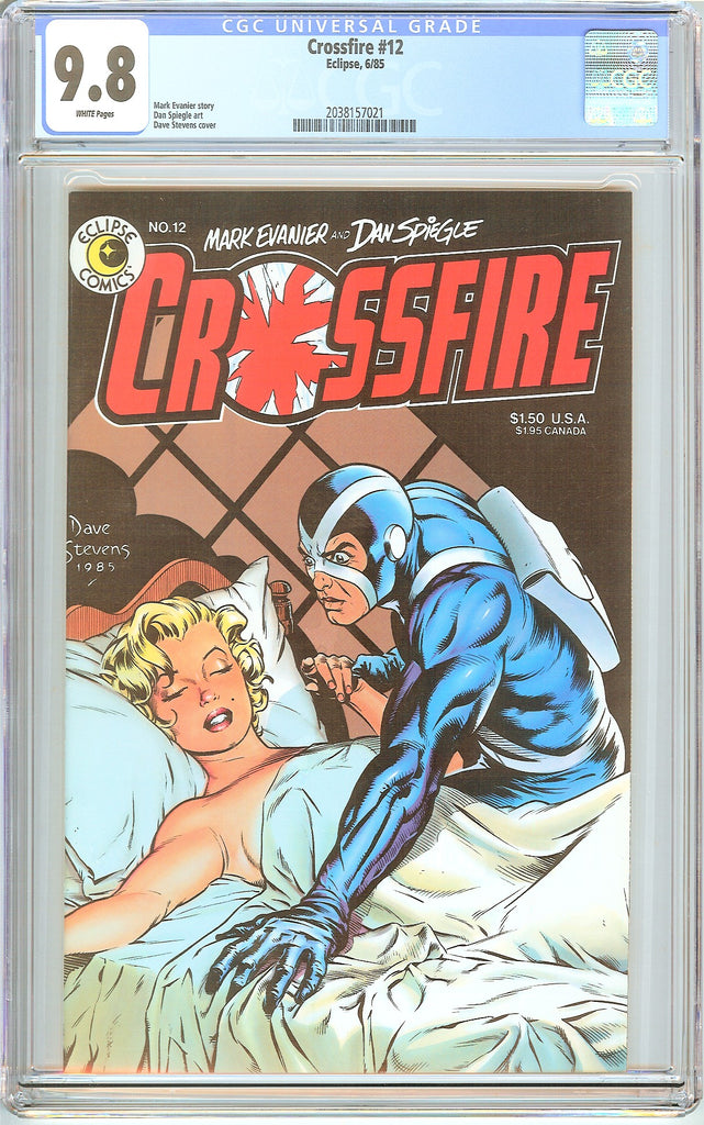 Crossfire #12 CGC 9.8 White Pages (1985) 2038157021 Dave Stevens
