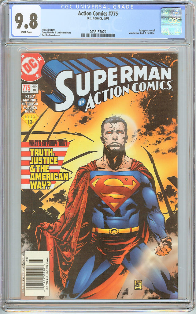 Action Comics #775 CGC 9.8 White Pages 2038157025 Scarce Newstand Edition