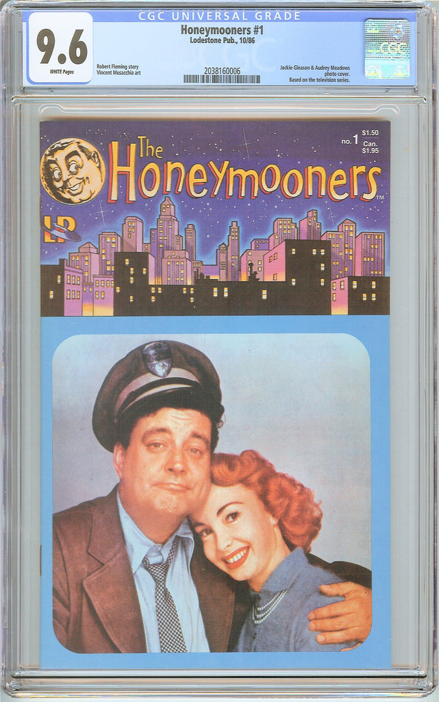 Honeymooners #1 CGC 9.6 White Pages (1986) 2038160006