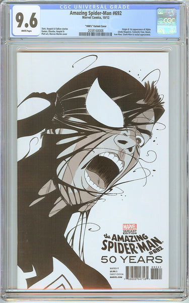 Amazing Spider-Man #692 CGC 9.6 White Pages 2038160008 Variant Cover
