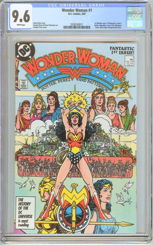 Wonder Woman #1 CGC 9.6 White Pages (1987) 2038160011