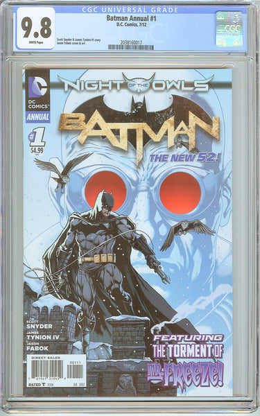 Batman Annual #1 New 52 CGC 9.8 White Pages (2012) 2038160017