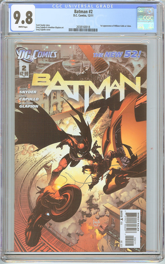 Batman #2 New 52 CGC 9.8 White Pages (2011) 2038160018