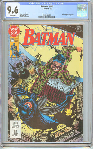 Batman # 490 CGC 9.6 White Pages (1993) 2038160022