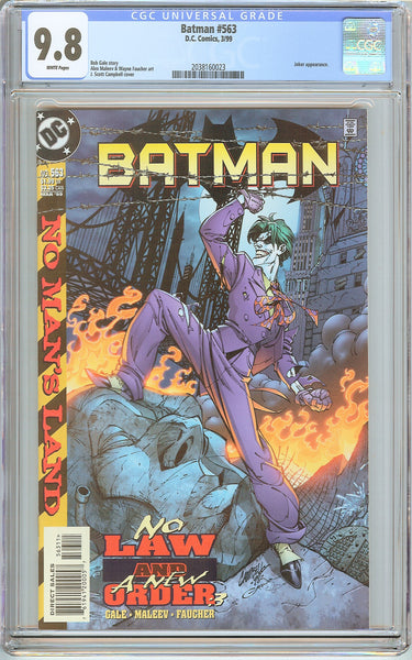 Batman # 563 CGC 9.8 White Pages (1999) 2038160023