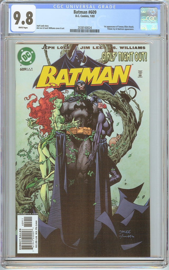 Batman # 609 CGC 9.8 White Pages (2003) 2038160024