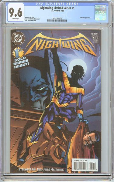 Nightwing Limited Series #1 CGC 9.6 White Pages (1995) 2038160025