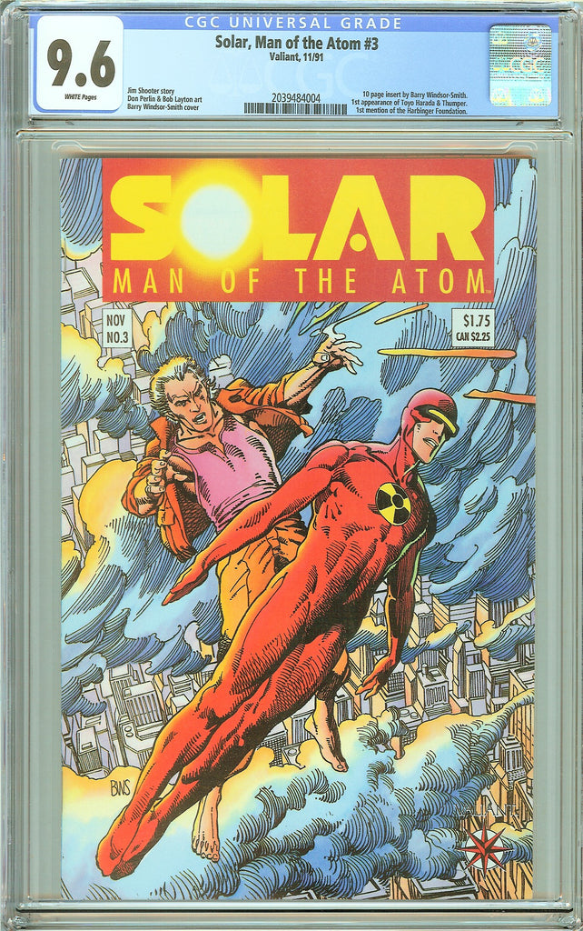 Solar Man of the Atom #3 CGC 9.6 White Pages (1991) 2039484004