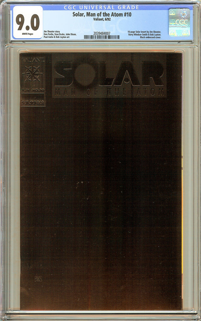 Solar, Man of the Atom #10 CGC 9.0 White Pages ( 1992 ) 2039484007