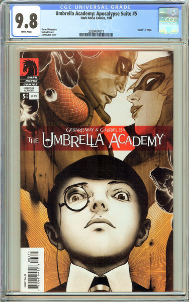 Umbrella Academy: Apocalypse Suite #5 CGC 9.8 White Pages 2039484011