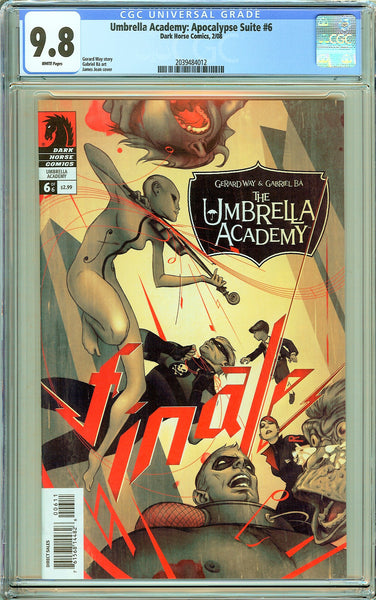 Umbrella Academy: Apocalypse Suite #6 CGC 9.8 White Pages 2039484012