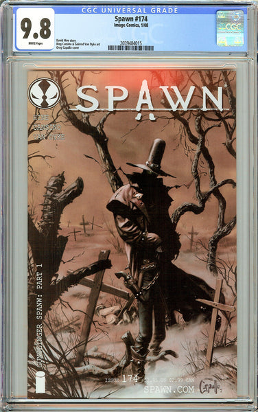 Spawn #174 CGC 9.8 White Pages 2039484015 First Gunslinger