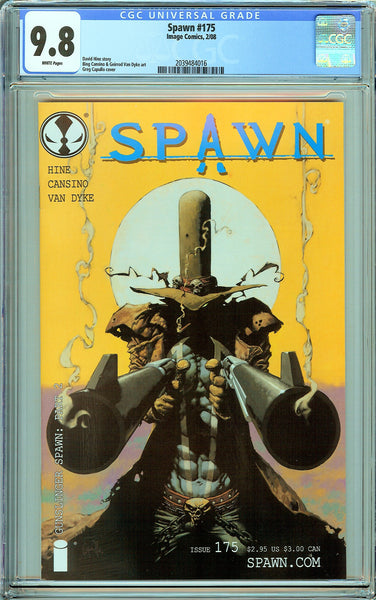 Spawn #175 CGC 9.8 White Pages 2039484016 Gunslinger