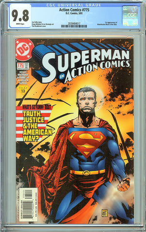 Action Comics #775 CGC 9.8 White Pages (2001) 2039484017