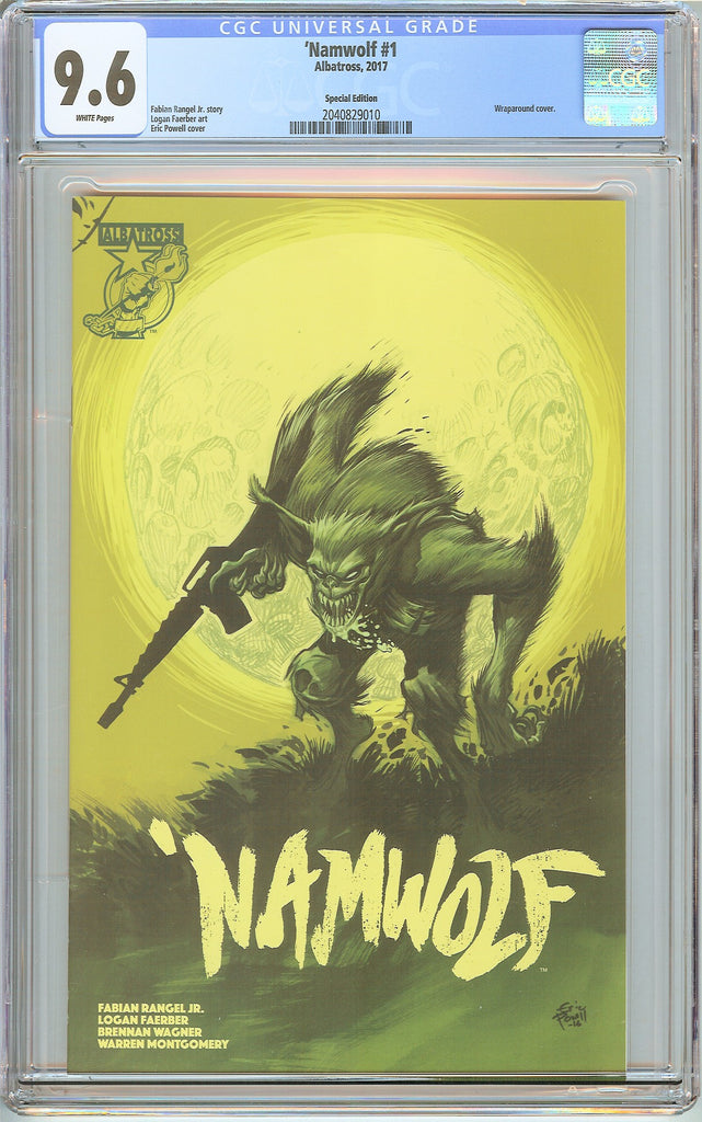 Namwolf #1 CGC 9.6 White Pages 2040829010 Wraparound Cover