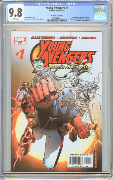 Young Avengers #1 CGC 9.8 White Pages 2040829011 Director's Cut Edition