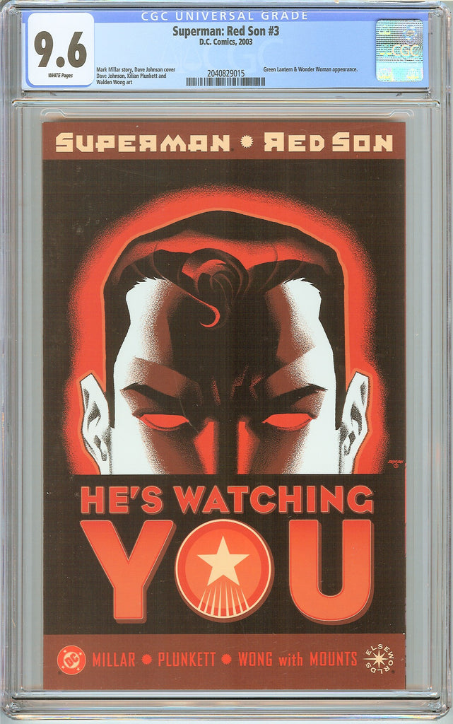 Superman Red Son #3 CGC 9.6 White Pages (2003) 2040829015