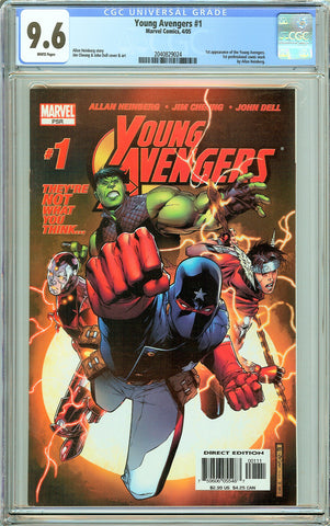 Young Avengers #1 CGC 9.6 White Pages (2005) 2040829024