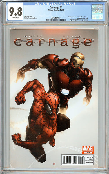 Carnage #1 CGC 9.8 White Pages 2040829025