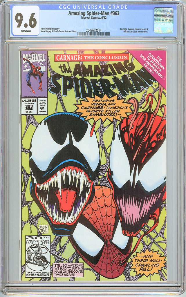 Amazing Spider-Man #363 CGC 9.6 White Pages (1992) 2042653014