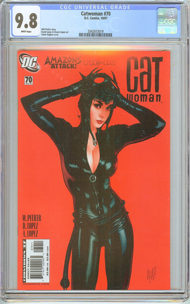 Catwoman #70 CGC 9.8 White Pages 2042653019 Adam Hughes Cover