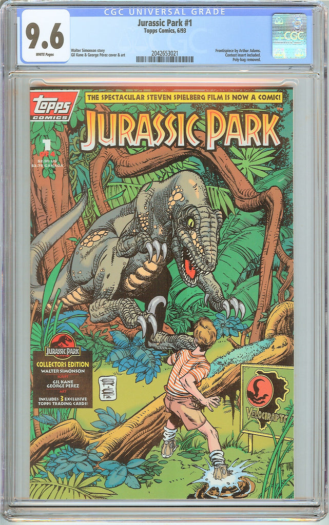 Jurassic Park #1 Topps Comics CGC 9.6 White Pages (1993) 2042653021