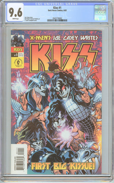 Kiss #1 CGC 9.6 White Pages (2002) 2043776002