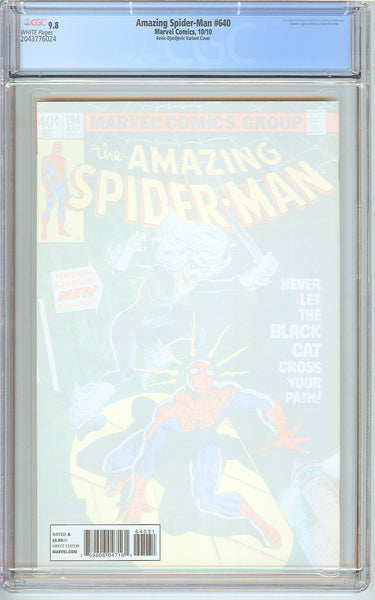 Amazing Spider-Man #640 CGC 9.8 White Pages 2043776024 Variant Cover