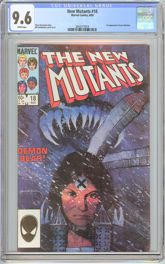 New Mutants #18 CGC 9.6 White Pages (1984) 2043777014 1st appe. new Warlock