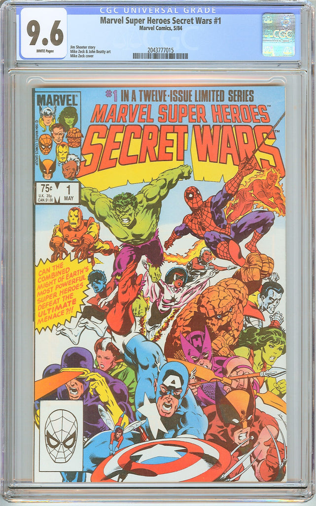 Marvel Super Heroes Secret Wars #1 CGC 9.6 White Pages (1984) 2043777015