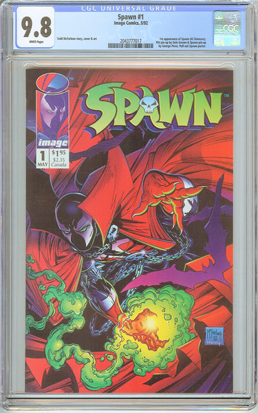Spawn #1 CGC 9.8 White Pages (1992) 2043777017