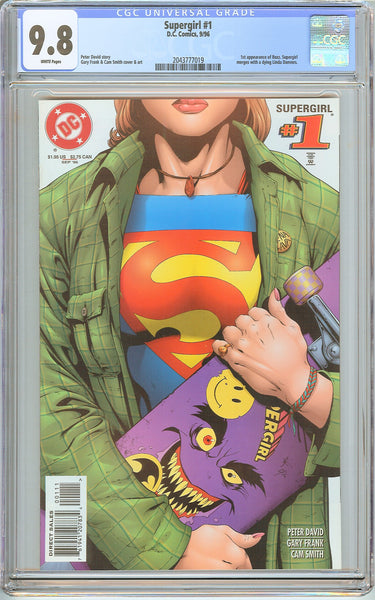 Supergirl #1 CGC 9.8 White Pages (1996) 2043777019