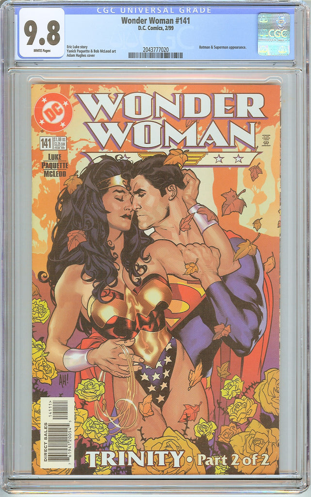 Wonder Woman #141 CGC 9.8 White Pages 2043777020 Adam Hughes cover