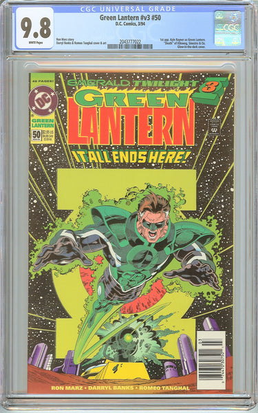 Green Lantern #50 CGC 9.8 White Pages (1994) 2043777022