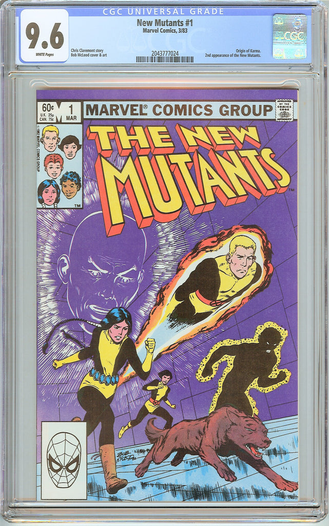 New Mutants #1 CGC 9.6 White Pages (1983) 2043777024