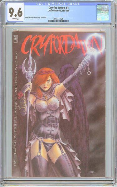 Cry for Dawn #3 CGC 9.6 White Pages (1990) 2043777025