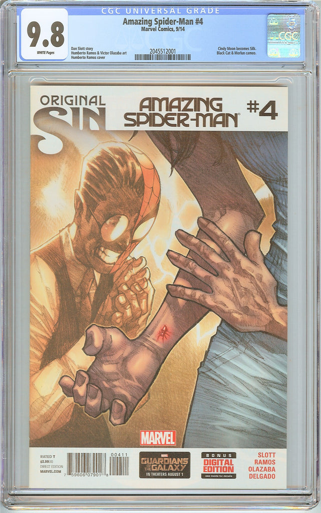 Amazing Spider-Man #4 CGC 9.8 White Pages (2014) 2045512001