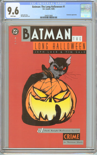 Batman Long Halloween #1 CGC 9.6 White Pages (1996) 2045512003