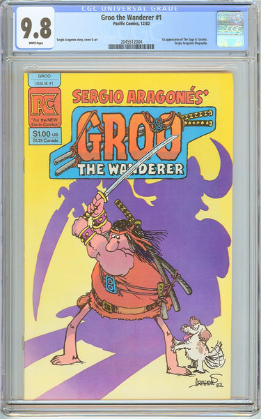 Groo the Wanderer #1 CGC 9.8 White Pages (1982) 2045512004
