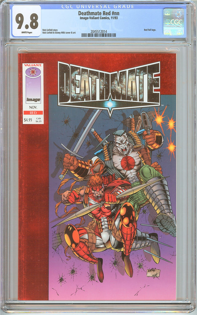 Deathmate Red CGC 9.8 White Pages (1993) 2045512014 Red Foil Logo