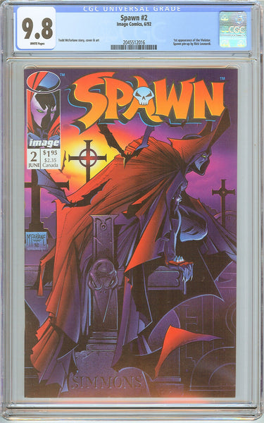 Spawn #2 CGC 9.8 White Pages (1992) 2045512016