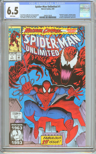 Spider-Man Unlimited #1 CGC 6.5 White Pages 2045512018 1st app. of Shriek